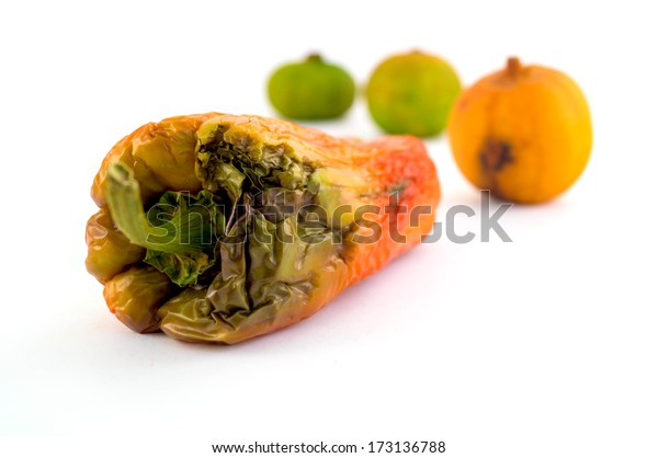 Rotten Vegetables Isolated
