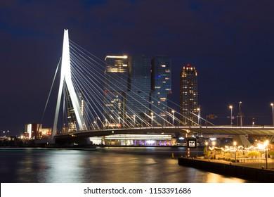 Rotterdam Bridge by Night