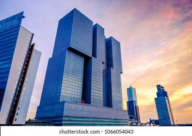 ROTTERDAM, HOLLAND - FEBRUARY 10, 2018: View on the 'Rotterdam' building,Rotterdam