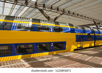 Rotterdam, Netherlands, 02-07-2018: A ns intercity (A dutch train company) is ready for departing from Rotterdam central station