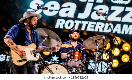 Rotterdam, The Netherlands - 13-15 July 2018. North Sea Jazz Festival performance of Nathaniel Rateliff & The Night Sweats