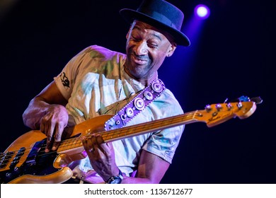 Rotterdam, The Netherlands - 13-15 July 2018. North Sea Jazz Festival performance of Marcus Miller