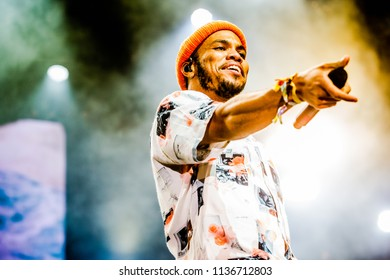 Rotterdam, The Netherlands - 13-15 July 2018. North Sea Jazz Festival performance of Anderson .Paak