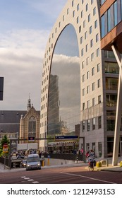 Rotterdam, Netherlands - 16 July, 2016:  The Markthal (Market Hall) is a residential and office building with a market hall, located in Rotterdam. The building was opened on October 1, 2014,