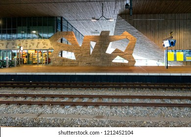 Rotterdam, Netherlands - 16 July:  Interior of train station at Rotterdam on 16 July 2016. Rotterdam is a major port city in the Dutch province of South Holland