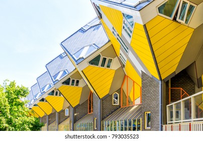 Rotterdam, Netherlands, 26 May 2017 - Cube Houses In Rotterdam