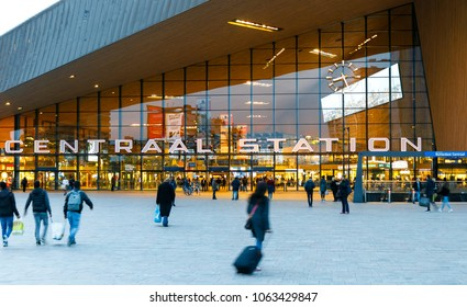 Rotterdam, Netherlands - April 07, 2018: View of Rotterdam Centraal Station