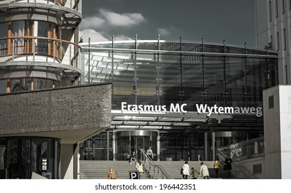 ROTTERDAM, NETHERLANDS - APRIL 1: Erasmus medical centre in Rotterdam on April 1, 2014 in Rotterdam