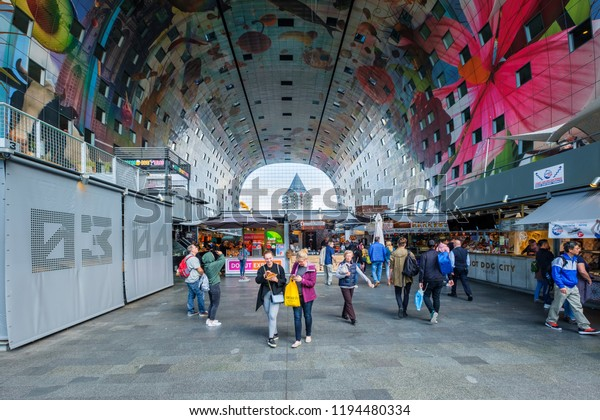 Rotterdam Netherlands Aug 30 2018 Shopping Stock Photo (Edit