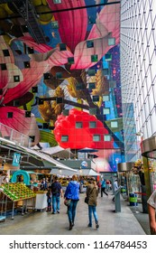 Rotterdam, Netherlands - August 27th 2017 - Market Hall - Markthal