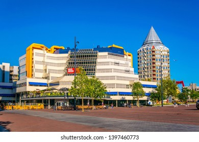 ROTTERDAM, NETHERLANDS, AUGUST 5, 2018: View of the Central library in Rotterdam, Netherlands