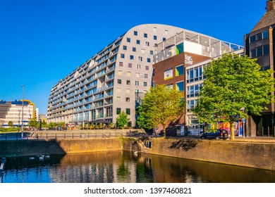 ROTTERDAM, NETHERLANDS, AUGUST 5, 2018: View of the Markthall building in Rotterdam, Netherlands