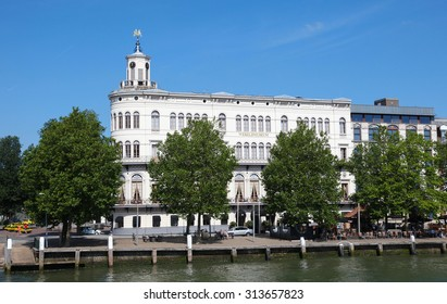 ROTTERDAM, THE NETHERLANDS - AUGUST 9, 2015: Wereldmuseum in the center of Rotterdam, South Holland, The Netherlands