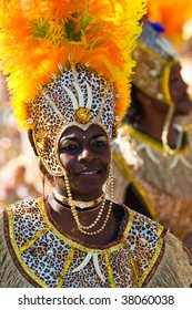 ROTTERDAM, THE NETHERLANDS - JULY 25: Participant of  the annual Summer Carnival in Rotterdam on July 25, 2009 in Rotterdam, The Netherlands