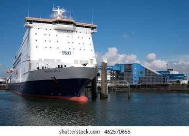 ROTTERDAM, THE NETHERLANDS - June 26, 2016: PRIDE OF HULL at terminal.  This passenger and cargo roll-on/roll-off ship is in service with P&O North Sea Ferries on the Hull - Rotterdam route.