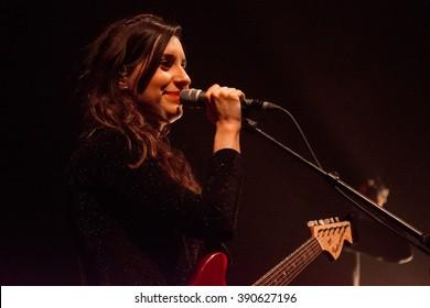 Rotterdam, the Netherlands - March 10, 2016: Dutch singer Eefje de Visser performs live on stage at Lantaren Venster Theatre.