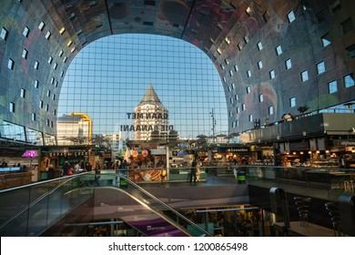 Rotterdam, The Netherlands - May 7, 2018 : The new and modern market hall in Rotterdam