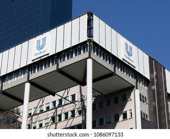 Rotterdam, Netherlands -may 8, 2018: Unilever building in Rotterdam, Netherlands