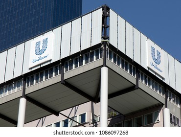 Rotterdam, Netherlands -may 8, 2018: Unilever international headquarter in Rotterdam