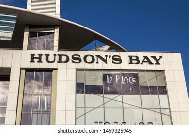 ROTTERDAM, NETHERLANDS - May 9, 2019:   Hudson's Bay. The Hudson's Bay Company is a Canadian retail business group.