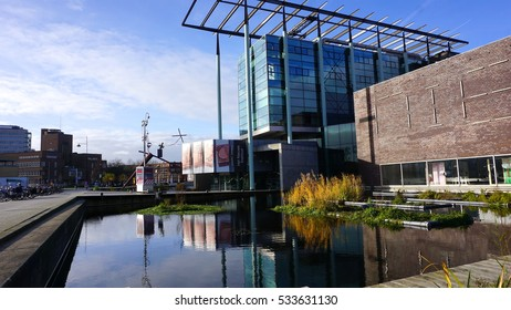 ROTTERDAM, NETHERLANDS - NOVEMBER 27, 2016: Het Nieuwe Institute, arts institute for exhibitions, lectures & research on contemporary architecture & design; museum in Rotterdam