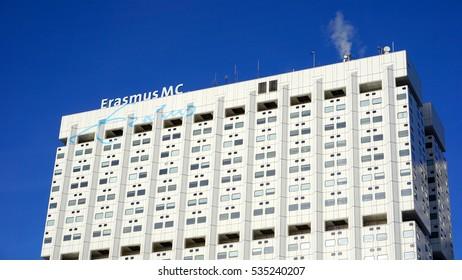 ROTTERDAM, NETHERLANDS - NOVEMBER 27, 2016: Erasmus MC Hospital in Rotterdam