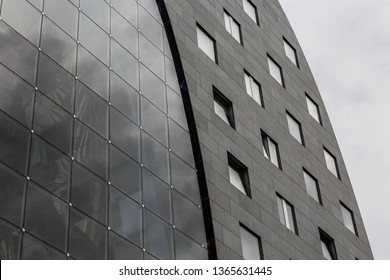 Rotterdam, The Netherlands - October 8, 2017: Close up of the facade of the Markthal in Rottredam