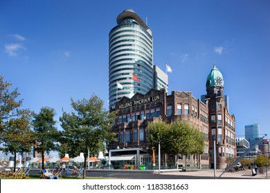 Rotterdam, Netherlands – September 18, 2018: The famous Hotel New York on the south bank in Rotterdam