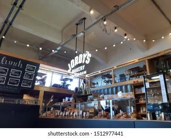 Rotterdam, Netherlands, September 2019: Jordy's bakery in Fenix Food Factory at Kattendrecht