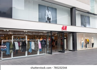 ROTTERDAM, NETHERLANDS-SEP 6, 2017: H&M Store. H&M Hennes & Mauritz AB is a Swedish multinational retail-clothing company. H&M has over 3,700 stores and as of 2015 employed around 132,000 people.