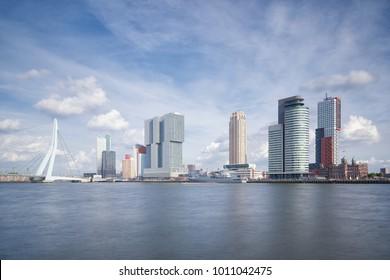 Rotterdam skyline daytime