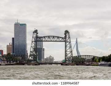 ROTTERDAM, SOUTH HOLLAND, THE NETHERLANDS - AUGUST 03, 2017: Koningshaven Bridge.