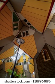ROTTERDAM, SOUTH HOLLAND, THE NETHERLANDS - AUGUST 02, 2017: Cube Houses.