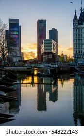 Rotterdam sunset / Netherlands / Harbor