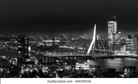 Rotterdam at twilight, The Netherlands