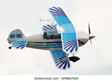 Roudnice nad Labem, CZECH REPUBLIC - JUNE 23,2019:  Christen Eagle II, Memorial Air Show 2019