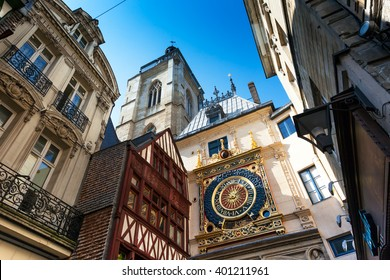 Rouen, Buildings in the historic District, Horloge; Normandy, France