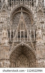 Rouen Cathedral is a Roman Catholic Church in Rouen, Normandy, France. The cathedral is in the Gothic architectural tradition. The cathedral was a favorite subject of Claude Monet.