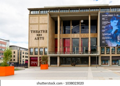 ROUEN, FRANCE - JULY 30, 2017: Art theater of Rouen, a city on the River Seine, Normandy, France