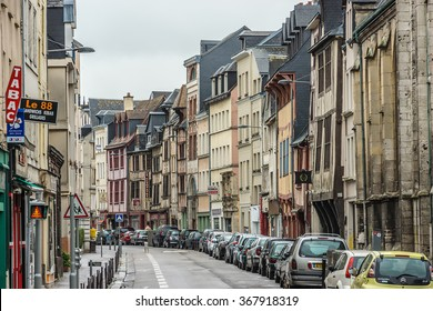 ROUEN, FRANCE - JUNE 2, 2015: Cityscape of Rouen. Rouen in northern France on River Seine - capital of Upper Normandy region and historic capital city of Normandy.