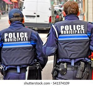 Rouen, France - november 26 2016 : policemen