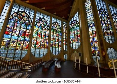 Rouen ; France - september 21 2017 : the Sainte Jeanne d Arc church