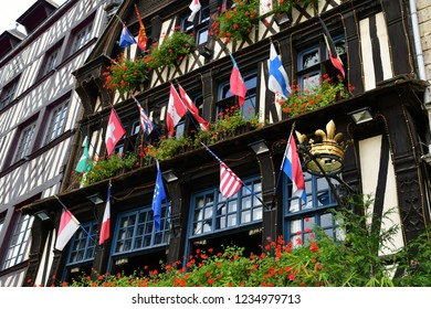 Rouen, France - september 9 2018 : La Couronne, a restaurant  in the historical city