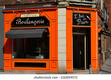 Rouen, France - september 9 2018 : art of bread bakery in the historical city