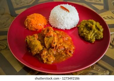 Rougail saucisse, creole dish of Reunion island, France