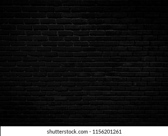 Rough brick wall texture brick background dark black.