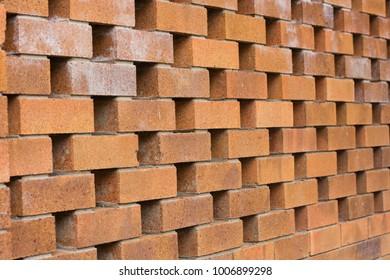 Rough Brown bricks wall background.