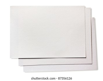Rough clean watercolor paper isolated on white