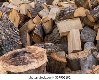 Rough Cut Wood Pile