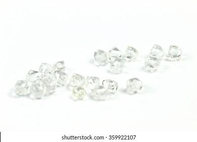 rough diamonds isolated on white background